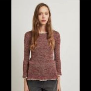 Isabel Marant Barton Ribbed Linen Sweater in Red